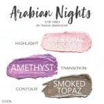 amethyst shadowsense, pink opal shimmer shadowsense, smoked topaz shadowsense, Arabian Nights ShadowSense Trio