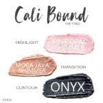 Cali Bound ShadowSense Trio, pink opal shimmer shadowsense, moca java shimmer shadowsense, onyx shadowsense