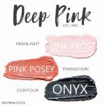Deep Pink Shadowsense trio, Pink Frost Shadowsense, Pink Posey Shadowsense, Onyx Shadowsense