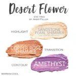 Desert Flower ShadowSense Trio, sandstone pearl shimmer shadowsense, copper rose shimmer shadowsense, amethyst shadowsense