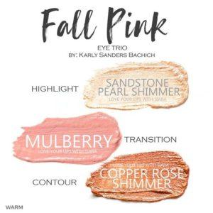 Fall Pink ShadowSense Trio, sandstone pearl shimmer shadowsense, mulberry shadowsense, copper rose shimmer shadowsense