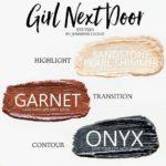 Girl Next Door ShadowSense trio, sandstone pearl shimmer shadowsense, garnet shadowsense, onyx shadowsense