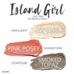 Island Girl shadowsense trio, sandstone pearl shimmer shadowsense, pink posey shadowsense, smoked topaz