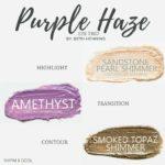 Purple Haze shadowsense trio, sandstone pearl shimmer shadowsense, amethyst shadowsense, smoked topaz shimmer shadowsense