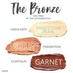 The Bronze shadowsense trio, sandstone pearl shadowsense, copper rose shimmer shadowsense, garnet shadowsense