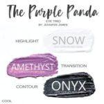 The Purple Panda shadowsense trio, snow shadowsense, amethyst shadowsense, onyx shadowsense