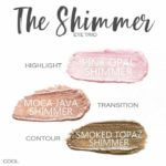 The Shimmer ShadowSense Trio, pink opal shimmer shadowsense, moca java shimmer shadowsense, smoked topaz shimmer shadowsense