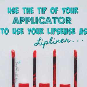 linersense tip lips outline, lipsense linersense, senegence linersense