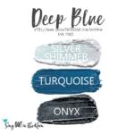 Deep Blue ShadowSense eye trio, silver shimmer shadowsense, turquoise shadowsense, onyx shadowsense