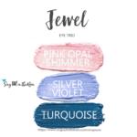 Jewell ShadowSense Eye Trio, pink opal shimmer shadowsense, silver violet shadowsense, Turquoise shadowsense