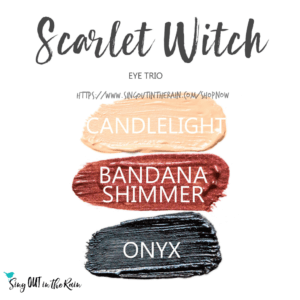 Candlelight Shadowsense, bandana shimmer shadowsense, onyx shadowsense, Scarlet Witch ShadowSense Eye Trio