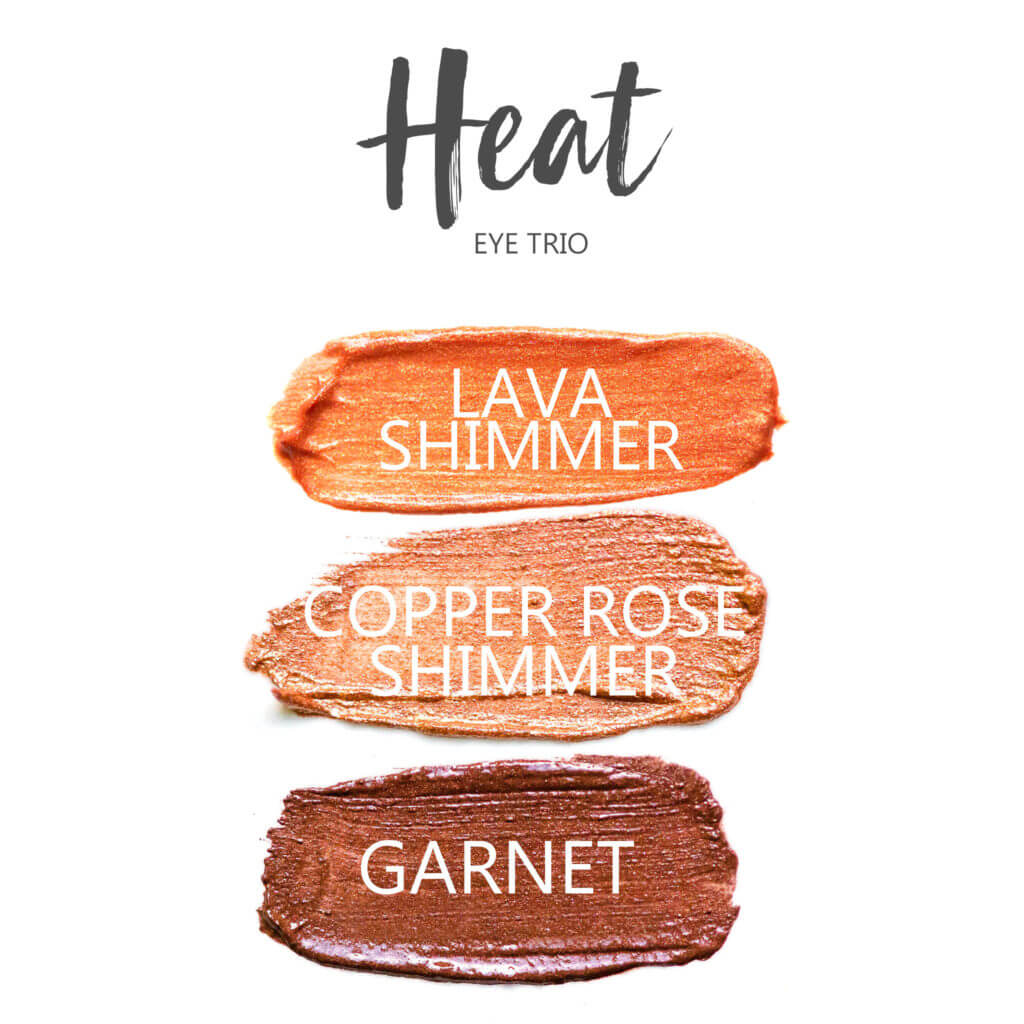Lava Shimmer Shadowsense, copper rose shimmer shadowsense, garnet shadowsense, Heat Shadowsense Eye Trio