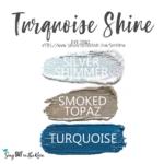 Turquoise Shine Shadowsense eye trio, silver shimmer shadowsense, smoked topaz shadowsense, turquoise shadowsense