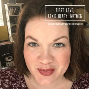 First love lipsense combo, Lexie Beary LipSense, Lipsense Mixology, First Love LipSense, Nutmeg LipSense