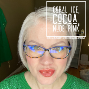 coral ice lipsense, lipsense mixology, Cocoa LipSense, Nude Pink LipSense