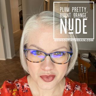 Plum Pretty LipSense, LipSense Mixology, Nude LipSense, Burnt Orange LipSense