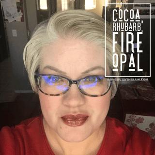 Cocoa LipSense, Fire Opal LipSense, Rhubarb LipSense, LipSense Mixology