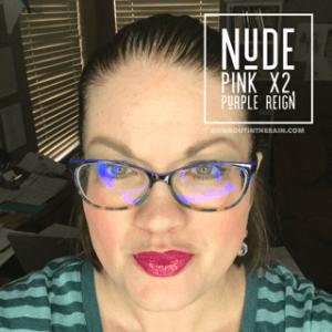 nude pink lipsense, purple reign lipsense, lipsense mixology