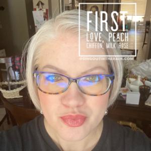 First Love LipSense, LipSense Mixology, Peach Chiffon LipSense, Milk Rose LipSense