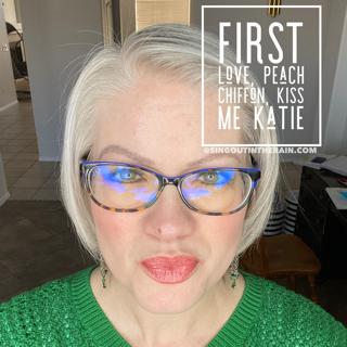 First Love LipSense, LipSense Mixology, Peach Chiffon LipSense, Kiss Me Katie LipSense
