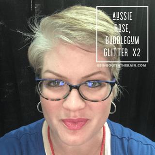 Aussie Rose Lipsense, Bubblegum Glitter Lipsense, LipSense Mixology