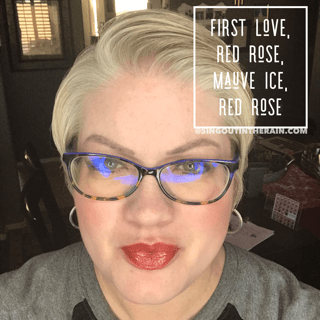First Love LiPSense, Red Rose LipSense, Mauve Ice LipSense, LipSense Mixology
