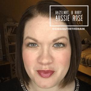 Hazelnut LipSense, B. Ruby LipSense, Aussie Rose LipSense, lipsense mixology