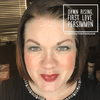 First Love LipSense combo, Dawn Rising lipsense, first love lipsense, persimmon lipsense, lipsense mixology