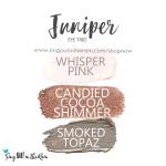 Juniper Eye Trio, whisper pink shadowsense, candied cocoa shimmer shadowsense, smoked topaz shadowsense