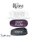 Wine Shadowsense eye trio, Glacier Glitter ShadowSense, Deep Plum ShadowSense, Onyx Shadowsense