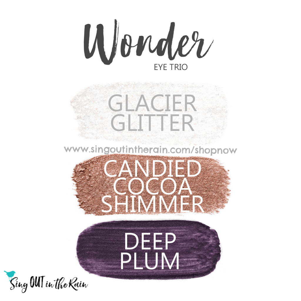 Wonder ShadowSense Eye Trio, Glacier Glitter Shadowsense, Candied Cocoa Shimmer ShadowSense, Deep Plum ShadowSense