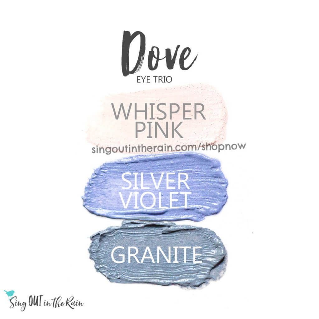 whisper pink shadowsense, silver violet shadowsense, granite shadowsense, dove trio