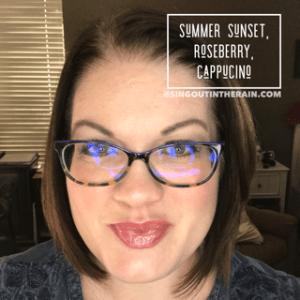 summer sunset lipsense, roseberry lipsense, cappuccino lipsense, lipsense mixology, cappuccino lipsense combos