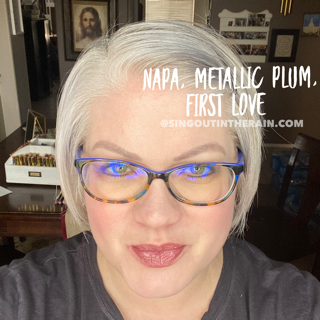 Napa Lipsense, Metallic Plum Lipsense, First Love LipSense