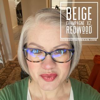 Beige Champagne LipSense, LipSense Mixology, Redwood LipSense