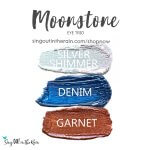 silver shimmer shadowsense, denim shadowsense, garnet shadowsense, moonstone eye trio