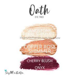 sandstone pearl shimmer shadowsense, copper rose shimmer shadowsense, cherry blush, onyx shadowsense, oath trio