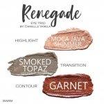 Renegade Trio, garnet shadowsense, smoked topaz ShadowSense, moca java shimmer shadowsense