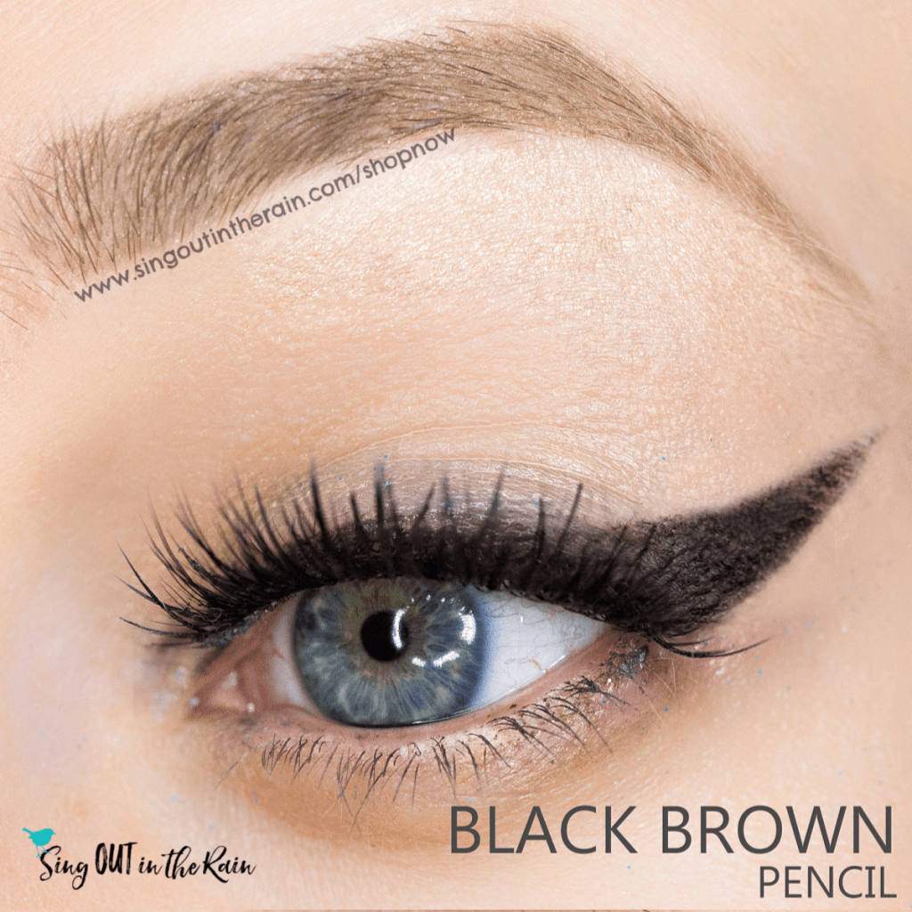 black brown eyesense eyeliner pencil