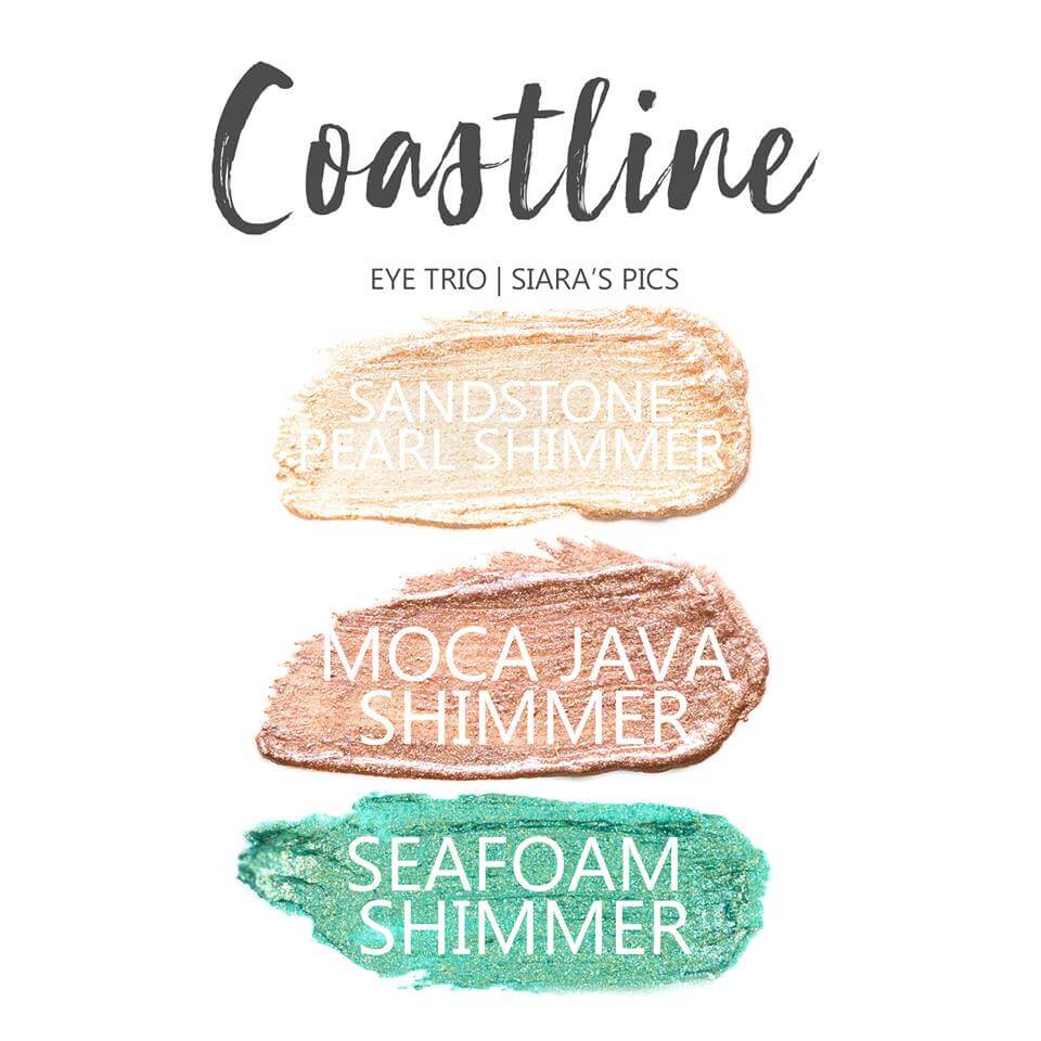 Coastline ShadowSense Eye Trio, Sandstone Pearl Shimmer Shadowsense, moca java shimmer shadowsense, seafoam shimmer shadowsense
