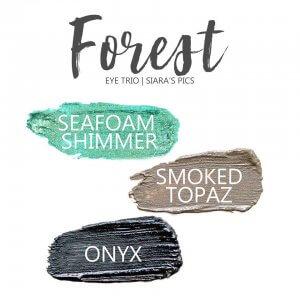 Forest Shadowsense Eye Trio, seafoam shimmer shadowsense, smoked topaz shadowsense, onyx shadowsense