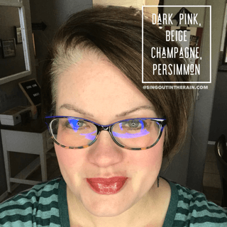 dark pink lipsense, beige champagne lipsense, persimmson lipsense, lipsense mixology