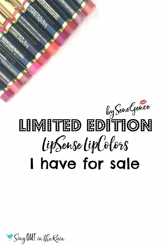 Limited Edition LipSense LipColors