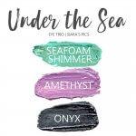 Under the Sea Shadowsense Eye Trio, Seafoam Shimmer ShadowSense, Amethyst Shadowsense, onyx shadowsense