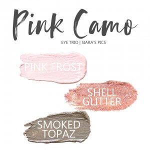 Pink Camo Shadowsense Eye Trio, Pink Frost Shadowsense, shell glitter shadowsense, smoked topaz shadowsense