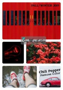 Pantone Trends Fall 2019, Pantone Fall 2019 Colors, Chili Pepper, Chili Pepper Pantone Color, Fall/Winter 2019 Pantone Color