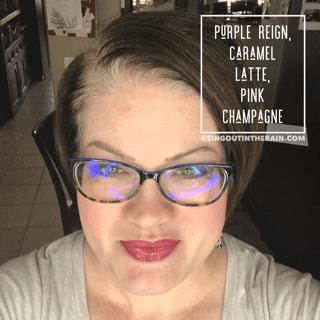 Purple Reign LipSense, Caramel Latte LipSense, Pink Champagne LipSense, LipSense Mixology