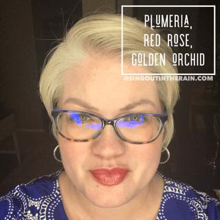 Plumeria LipSense, Red Rose LipSense, Golden Orchid LipSense, LipSense Mixology