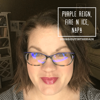 Purple Reign LipSense, Fire N Ice LipSense, Napa LipSense