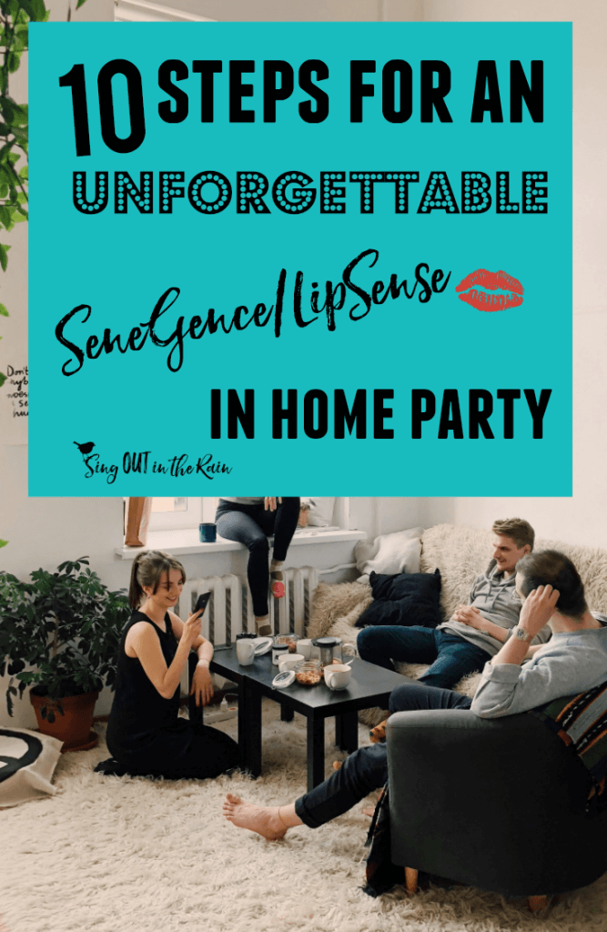 senegence demo ideas, lipsense demo ideas, SeneGence home party, lipsense home party